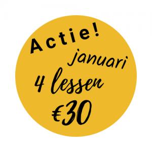 Actie in januari 2020. 4 lessen voor maar €30.